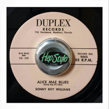 "45RE ✦ SONNY BOY WILLIAMS ✦ ""Alice Mae Blues / Opossum Rock"" (Hot Jivers) DUPLEX"