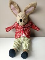 """RARE IKEA PIPHARE 14"""" BUNNY RABBIT HARE SOFT PLUSH CUDDLY TOY COMFORTER RETIRED"""