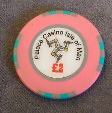 Genuine £ 2 Chip da poker di casinò Palazzo Isola di Man Moneta £ 2. due Pound, IOM.