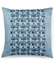 "Hotel Collection Colonnade 18"" Pima Cotton Architectural Decorative Pillow  Blue"