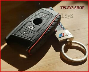 Silicone Fob Key Case Cover for BMW F10 F20 F30 ☆ For 4 Buttons ☆ + Keyring ☆