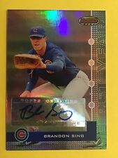Brandon Sing 2008 Bowman Best 292/974 #131 Chicago Cubs auto signed autograph