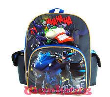 "Batman Backpack- Dark Knight 12"" Toddler Backpack - Batman on Batbike, New"
