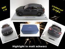 Maserati Levante in matt schwarz  Limitiert auf 32 Stück  BBR  1:18  PC-Box