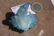 Aqua-Aura Spitze Gruppe N99  ca.4,81cm Bergkristall mit Gold bedampft  USA