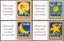 Norfolk Island 2000 Natale/Saluti/Candela/Sole/Luna/stella/alberi 4 V Set b210e