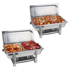 9L + 2 x 4.5L Trays Bain Marie Chafing Dish Stainless Steel Buffet Food Warmer
