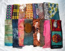 16 Vintage Rectangular & Square Head Scarves Wraps Floral Silk Vera Echo Pattern
