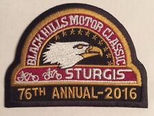 OFFICIAL STURGIS RALLY PATCH 2016 76th ANNUAL BIKER