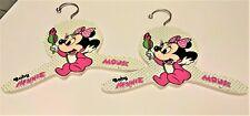 Vintage Child Disney Clothes Hanger Walt Disney Baby Minnie Mouse set of (2)