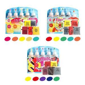 Tie Kit Arts Design Fabric Tie Dye Art Craft One Step Fashion Sets 5 Colors DIY