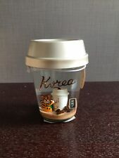 2018 Starbucks KOREA Excls Orange Tiger in Bearista Apron Snow Globe -No Card