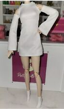 2021 Barbie Signature Looks Doll Fashion white dress and shoes Outfit Complete