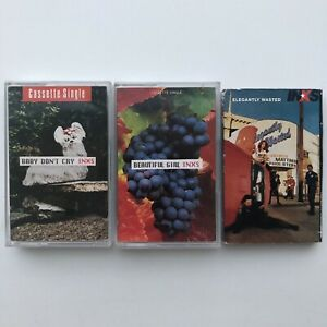 INXS - x3 Cassette Tapes (Baby Don't Cry / Beautiful Girl / Elegantly Wasted)