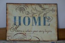 Unbranded Tin Rustic/Primitive Decorative Plaques & Signs