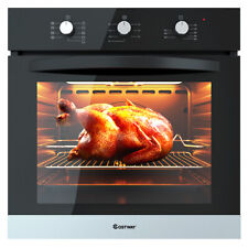 """24"""" Electric Built-In Single Wall Convection Oven Tempered Glass Buttons Control"""