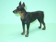 "Doberman Pinscher Dog, 3"" to 4"", Hand Painted Figurine"