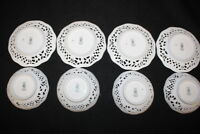 8 Pc Vtg DRESDEN Schumann Bavaria WIEN Vienna Buildings Pierced Plates & Bowls