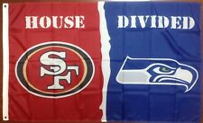 San Francisco 49ers Seattle Seahawks House Divided 3'x5' Banner Flag