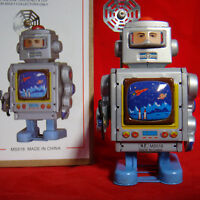 Vintage Wind Up Robot Repair Astronaut Tin Toy Retro Collectable Fun Gift