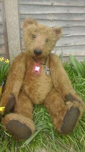 BEEFCAKE Huge OOAK Artist Teddy Bear Anne Curran Ragtail Bears - Stunning!
