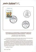 ITALIA 1994 CRISTO RISORTO TARQUINIA BOLLETTINO COMPLETO DI FRANCOBOLLI  FDC