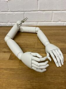 """Pair Child Wooden Articulated Arms - 18"""""""
