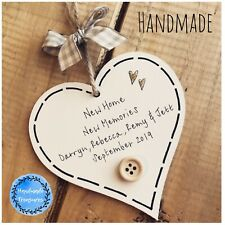 New Home Gift Personalised Housewarming First Plaque Sign Moving Memories House
