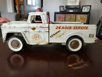 Vintage Pick-up Service Truck From The 1950s/Metal/A Dunwell Certified Toy