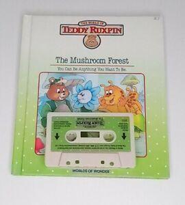 Vintage Teddy Ruxpin Mushroom Forest Book & Tape 1980s Worlds of Wonder