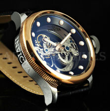 Invicta Russian Diver GHOST Skeletonized Dial 18k Rose Gold IP Bezel Black Watch