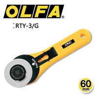 OLFA RTY-3/G 60mm Rotary Cutter Knife Multipurpose Utility MADE IN JAPAN_EN
