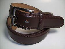 "Men Smoke Color Buckle Dark Brown Leather Belt 54"" #9907B"