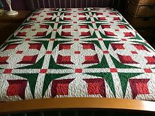 Holiday Sale  sale Queen  size machine pieced & quilted # J-64