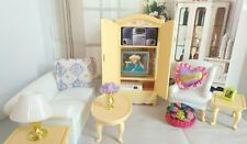 BARBIE DOLL COMPLETE SET OF DOLL HOUSE FURNITURE SET WITH ONE END TABLE
