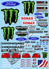 1/10 Decal Rally Set Ford Escort - Ken B 2019 Livery   Tamiya TA01 TA02 TT01