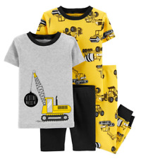 NWT Carter's 4 PIECE CONSTRUCTION COTTON PAJAMA SET Size 4T ~ NEW MSRP $36