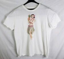 Hurley Hula Girl White T-Shirt Size XXL