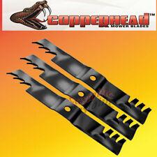 """Copperhead Commercial Heavy Duty Multch Blades 3 Blades 60"""" Cut Lazer Z Triton"""