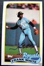 1989 Topps Baseball Talk Card Frank White Kansas City Royals # 142