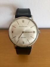 Vintage Men's GP Girard Perregaux Sea Hawk Stainless Swiss Watch ~ Runs