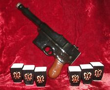 Ceramic Bottle 0.65 L & 6 Сups of Vodka In the Form of  Pistol Mauser K-96 #2
