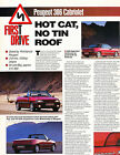 1994 Peugeot 306 Cabriolet Convertible Original Car Review Print Article J372
