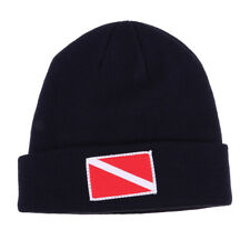 Scuba Diving Kayak Surf Snorkeling Beanie Hat Cap with Dive Flag Embroidery