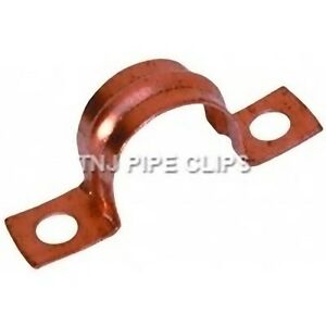 Copper SADDLE Bands - 8mm or 10mm Pipe Clip Band Support U Fixing - Diff Qtys