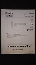 Marantz dvd930 u Service Manual dvd video player original repair book