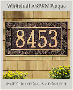 Whitehall ASPEN Address Personalized Plaque Sign - 17 Color Choices Rust Free