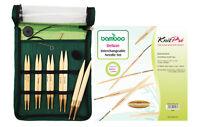 KnitPro Bamboo Starter Set remplaçable Aiguilles à tricoter circulaires 22541