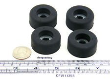 "4 Very Large 1 1/2"" Diam Rubber Bumpers with Embedded Washer - Feet - 5/8"" High"