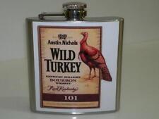 Wild Turkey Hip Flask 6oz Bourbon Barware